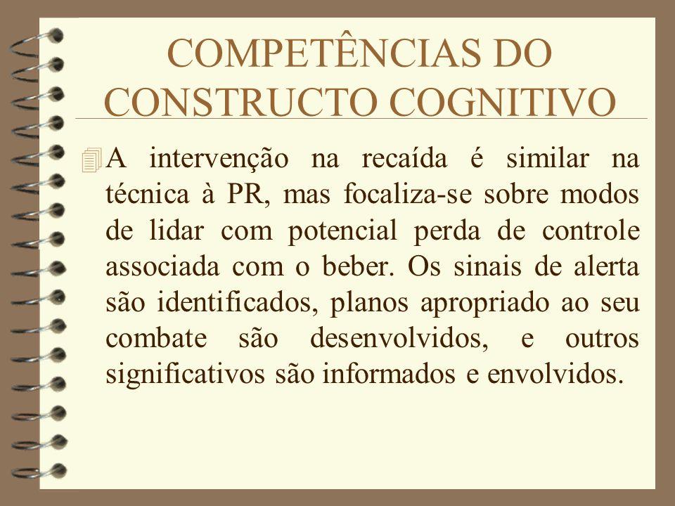 COMPETÊNCIAS DO CONSTRUCTO COGNITIVO