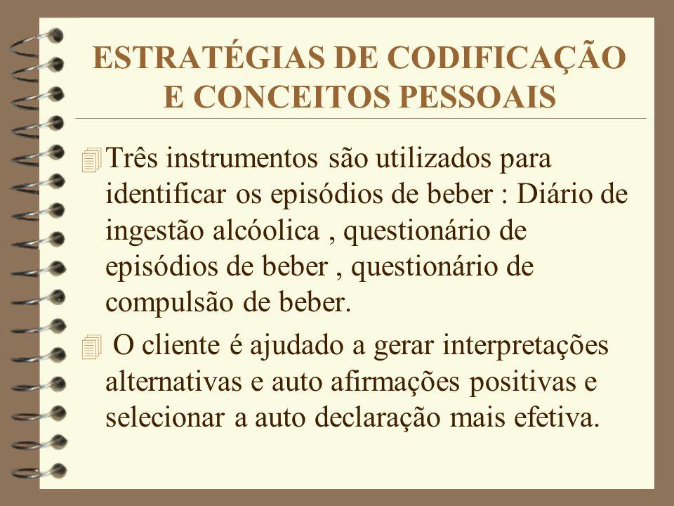 ESTRATÉGIAS DE CODIFICAÇÃO E CONCEITOS PESSOAIS