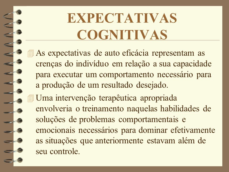 EXPECTATIVAS COGNITIVAS