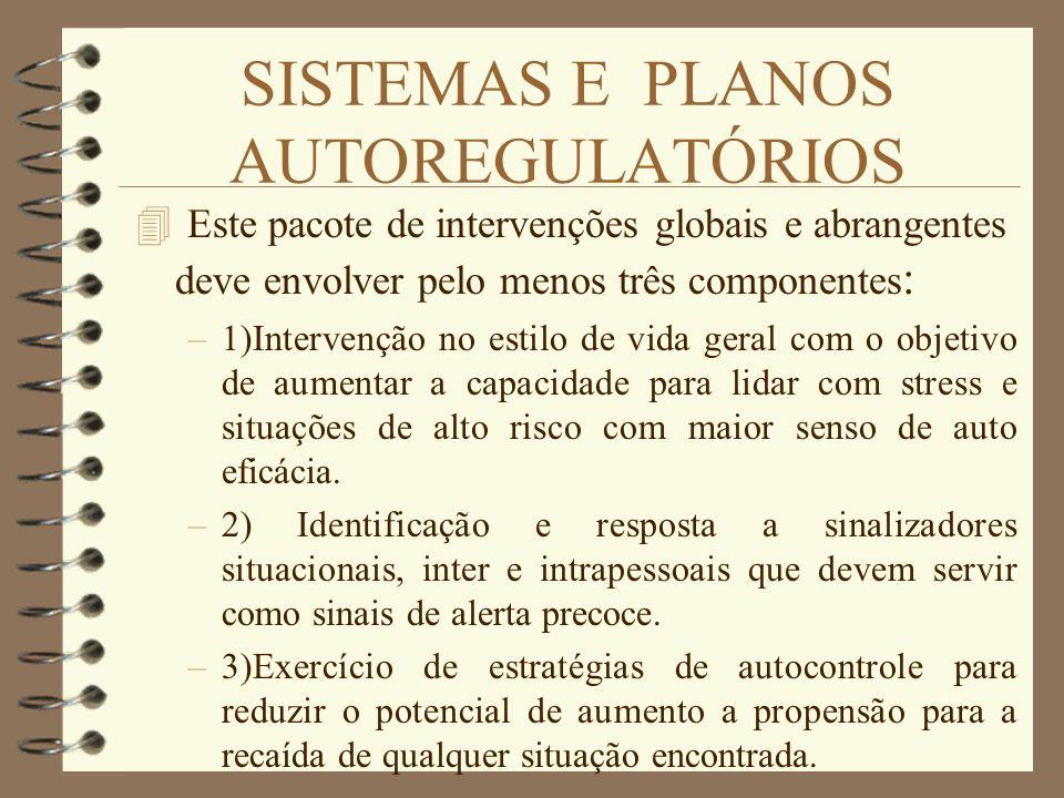 SISTEMAS E PLANOS AUTOREGULATÓRIOS