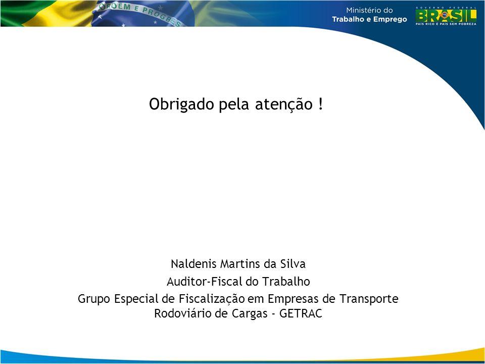 Obrigado pela atenção ! Naldenis Martins da Silva