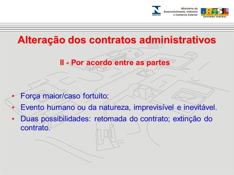 Alteração dos contratos administrativos