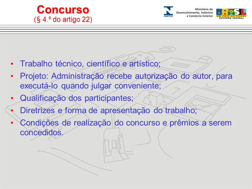 Concurso (§ 4.º do artigo 22)