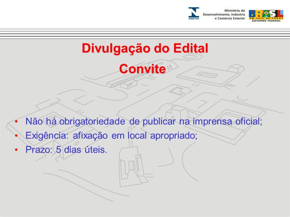 Divulgação do Edital Convite