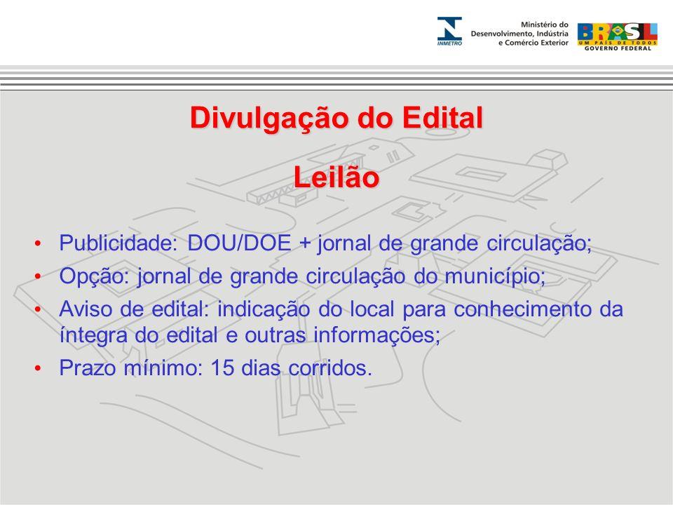Divulgação do Edital Leilão