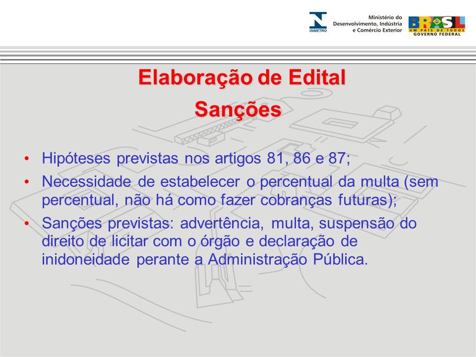 Elaboração de Edital Sanções