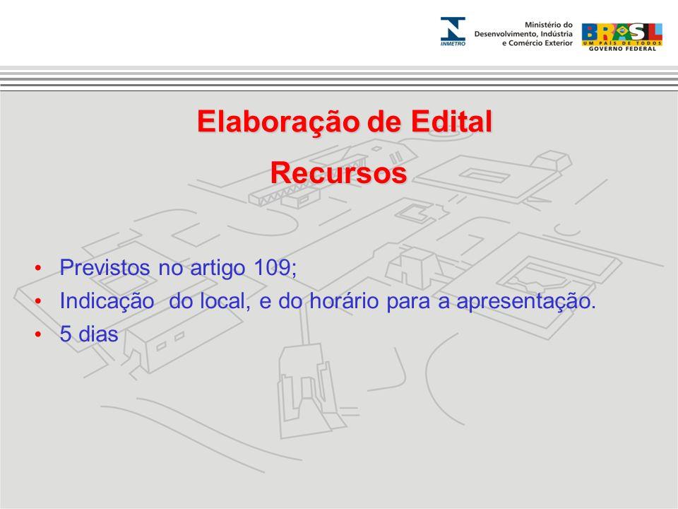 Elaboração de Edital Recursos
