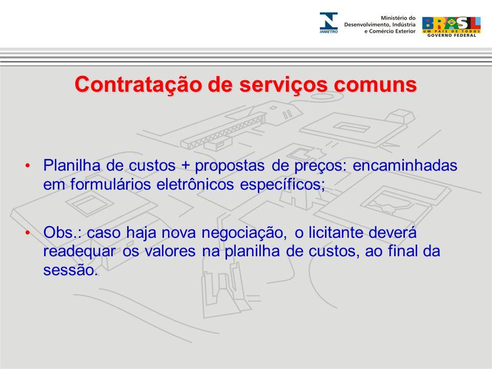 Contratação de serviços comuns