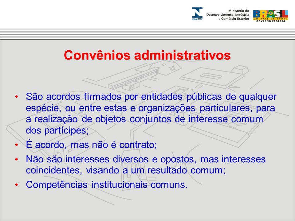 Convênios administrativos