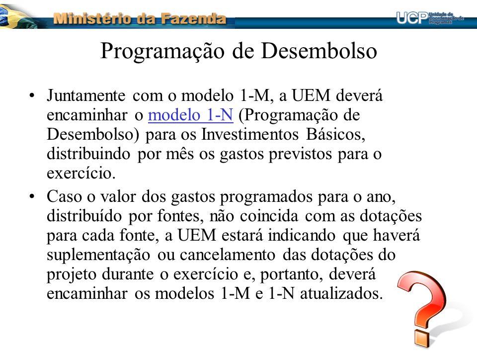 Programação de Desembolso