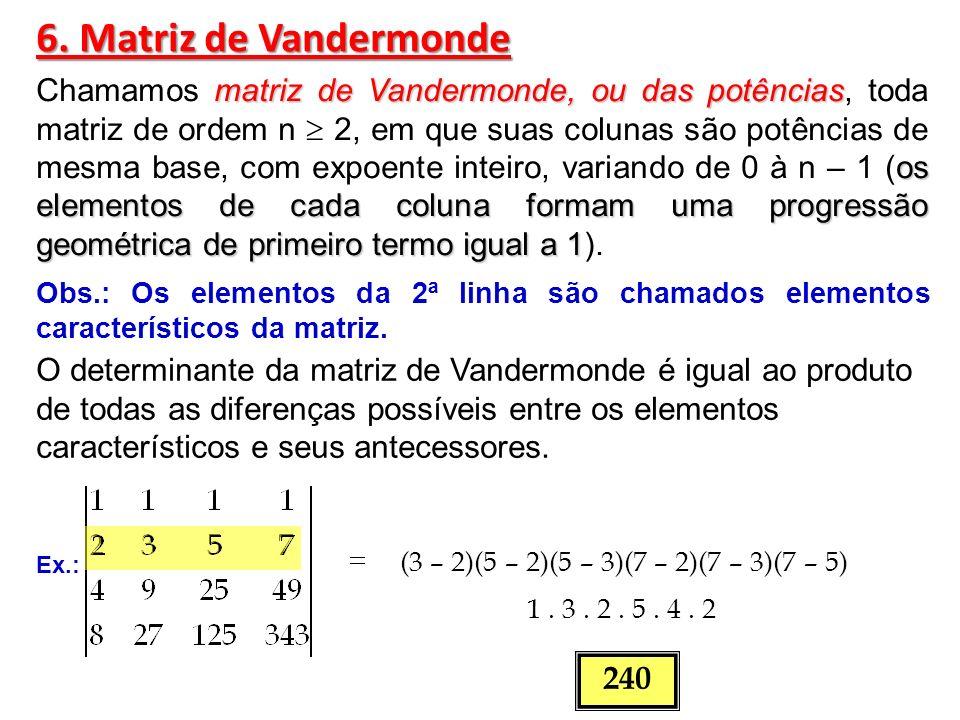 6. Matriz de Vandermonde