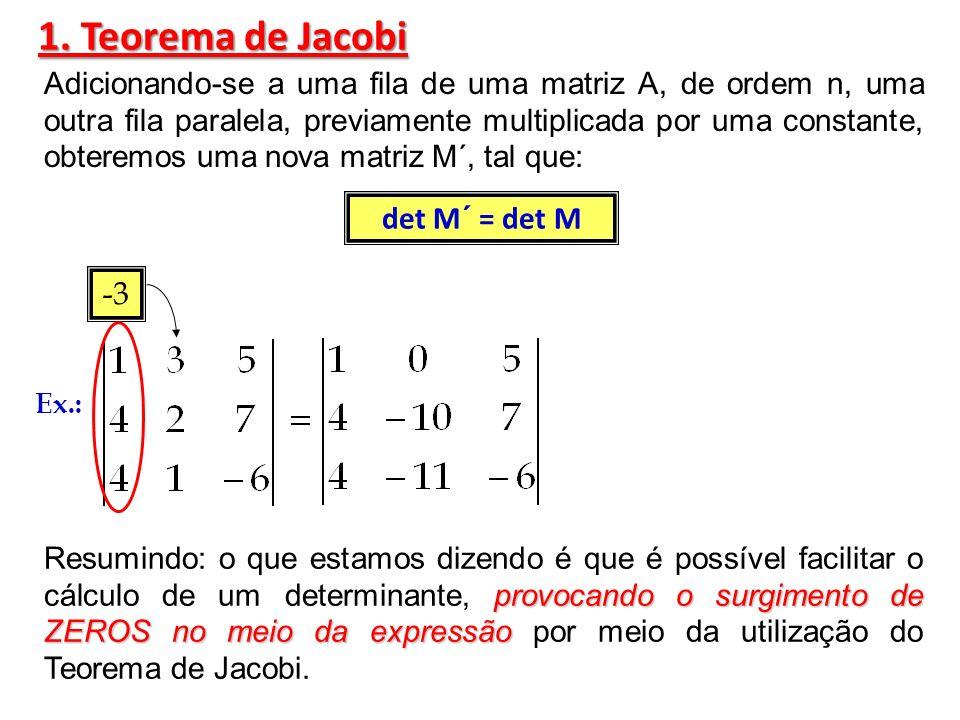 1. Teorema de Jacobi det M´ = det M -3