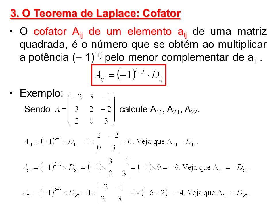 3. O Teorema de Laplace: Cofator