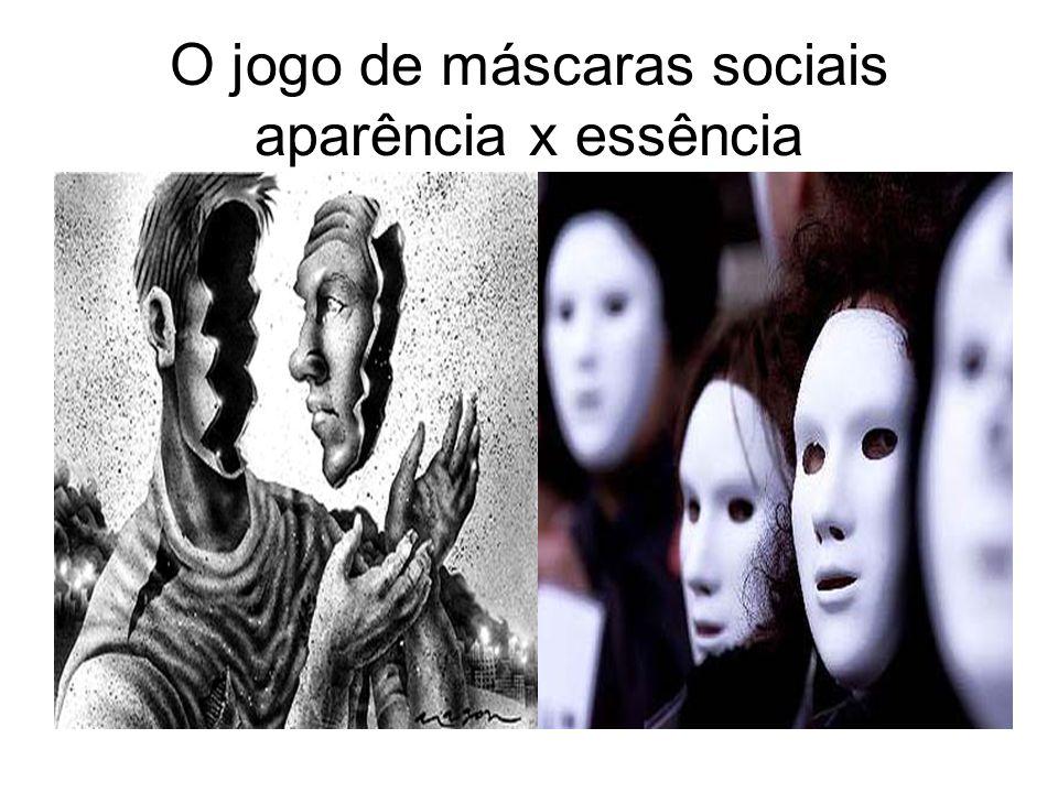 O jogo de máscaras sociais aparência x essência