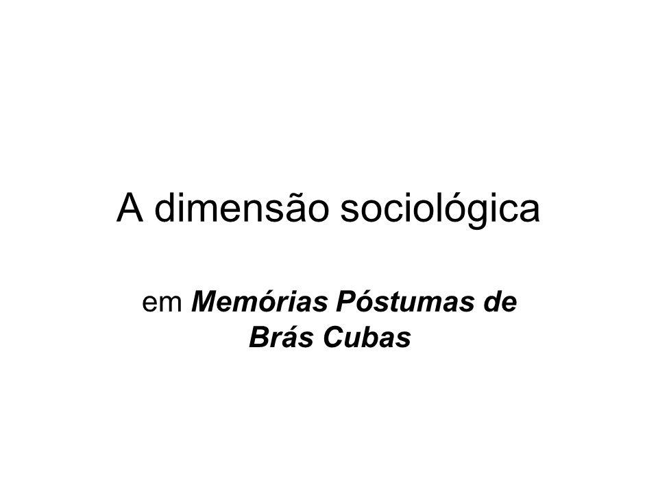 A dimensão sociológica
