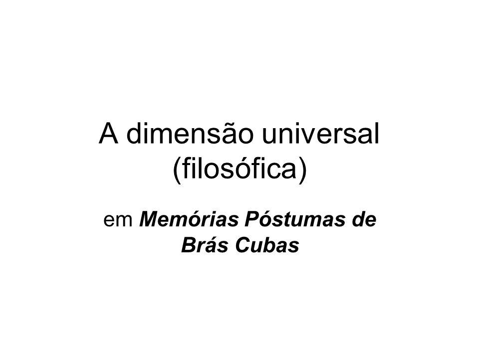 A dimensão universal (filosófica)
