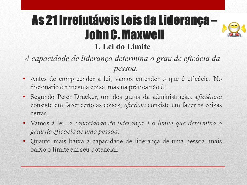 As 21 Irrefutáveis Leis da Liderança – John C. Maxwell