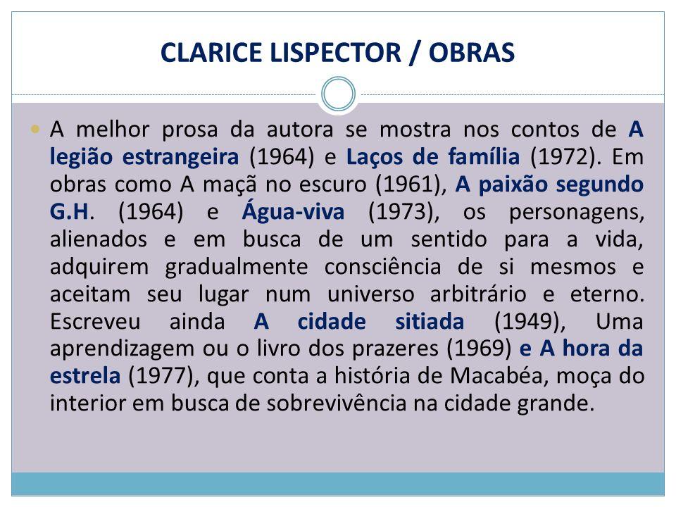 CLARICE LISPECTOR / OBRAS