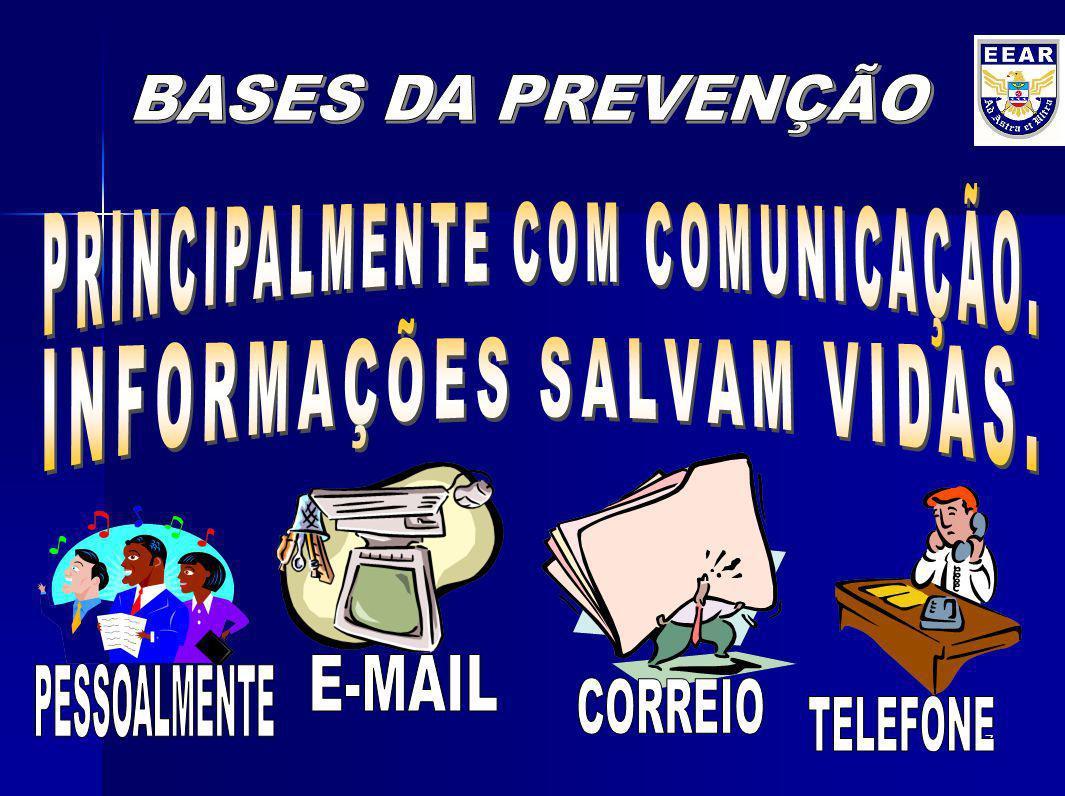 PRINCIPALMENTE COM COMUNICAÇÃO. INFORMAÇÕES SALVAM VIDAS.