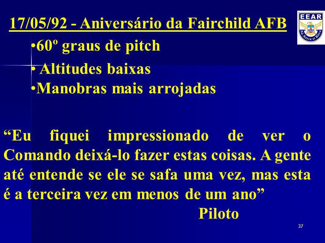 17/05/92 - Aniversário da Fairchild AFB