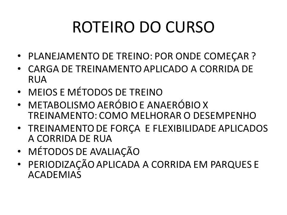 ROTEIRO DO CURSO PLANEJAMENTO DE TREINO: POR ONDE COMEÇAR