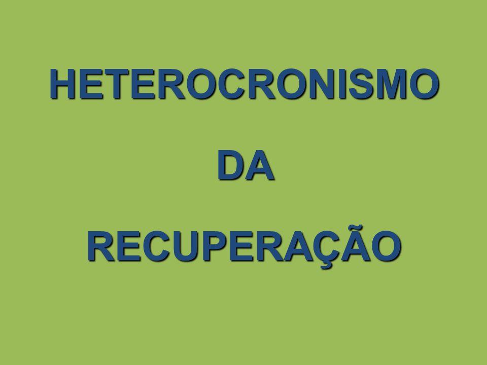 HETEROCRONISMO DA RECUPERAÇÃO