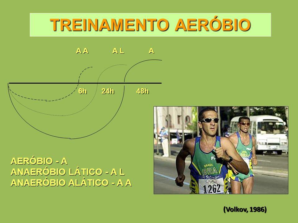 TREINAMENTO AERÓBIO AERÓBIO - A ANAERÓBIO LÁTICO - A L