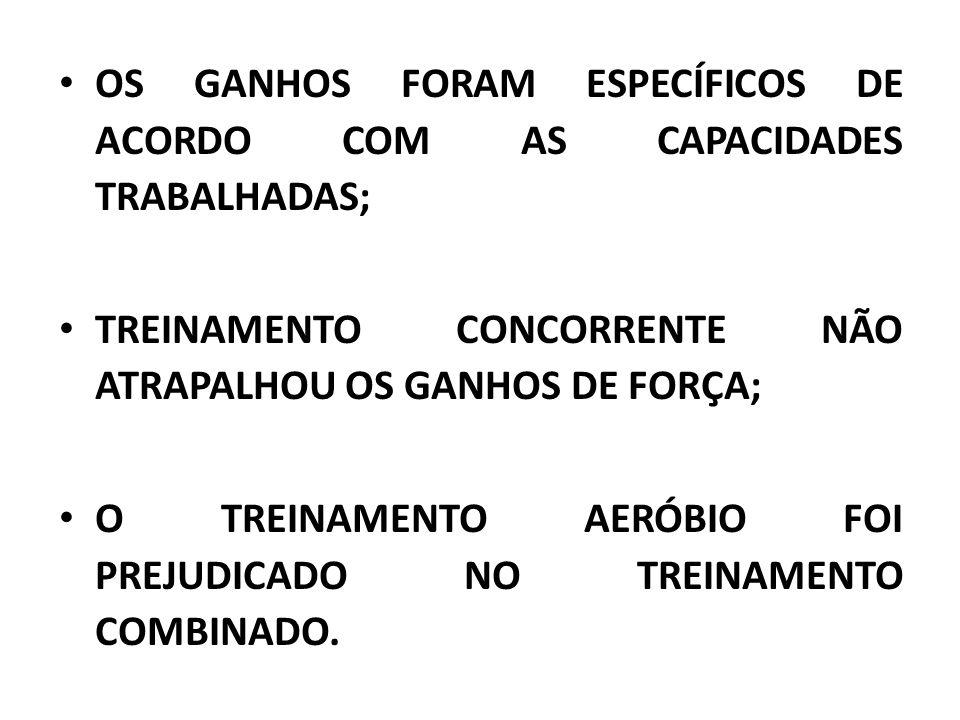 OS GANHOS FORAM ESPECÍFICOS DE ACORDO COM AS CAPACIDADES TRABALHADAS;
