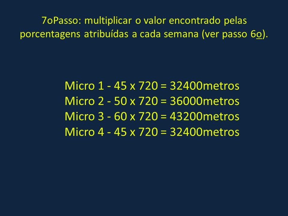 Micro 1 - 45 x 720 = 32400metros Micro 2 - 50 x 720 = 36000metros