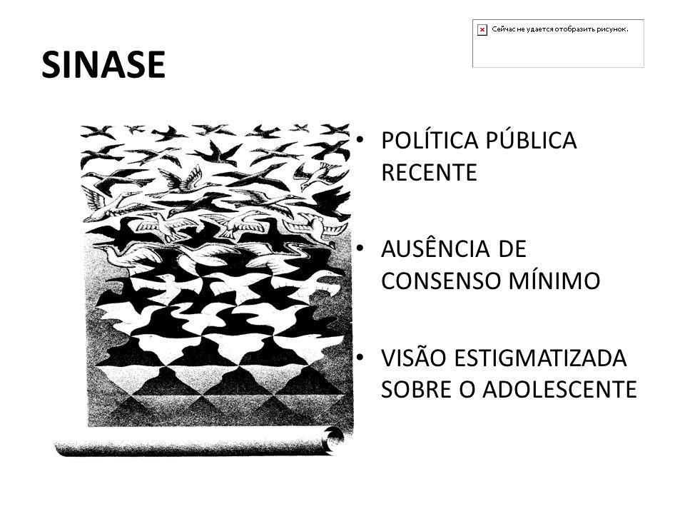 SINASE POLÍTICA PÚBLICA RECENTE AUSÊNCIA DE CONSENSO MÍNIMO