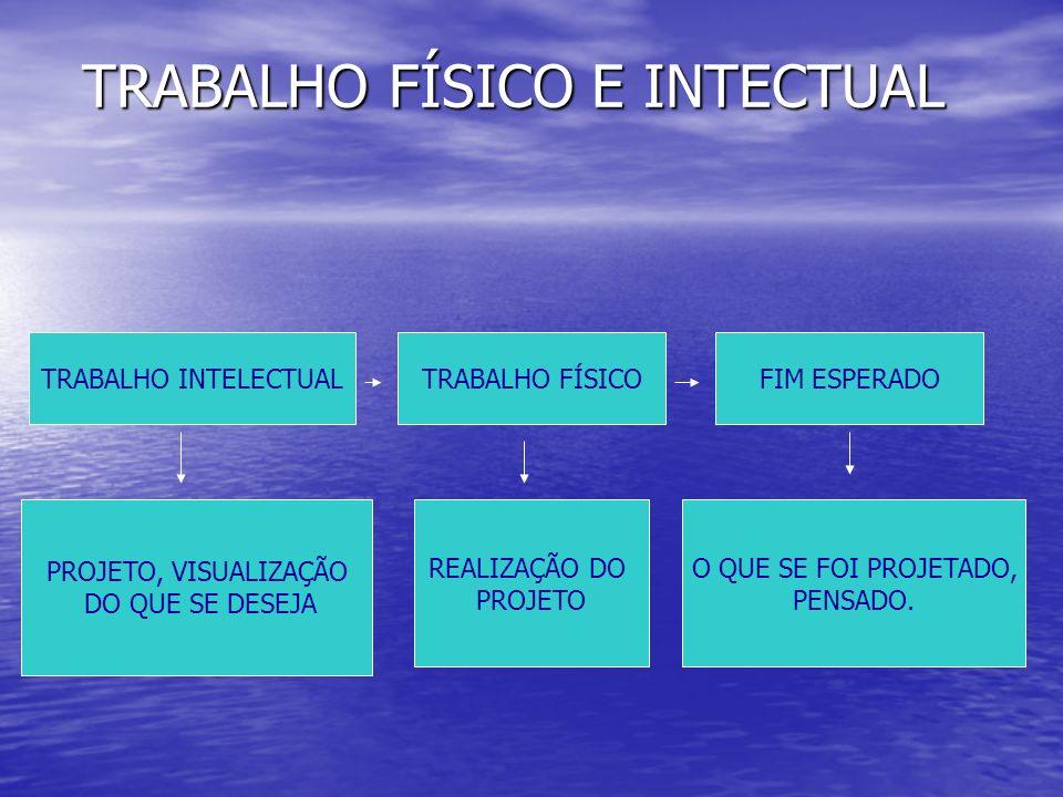 TRABALHO FÍSICO E INTECTUAL