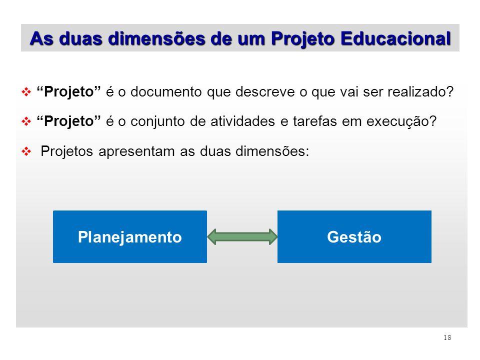 As duas dimensões de um Projeto Educacional