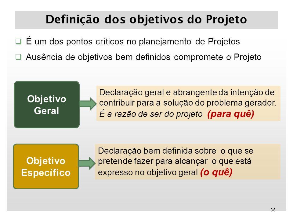 Definição dos objetivos do Projeto