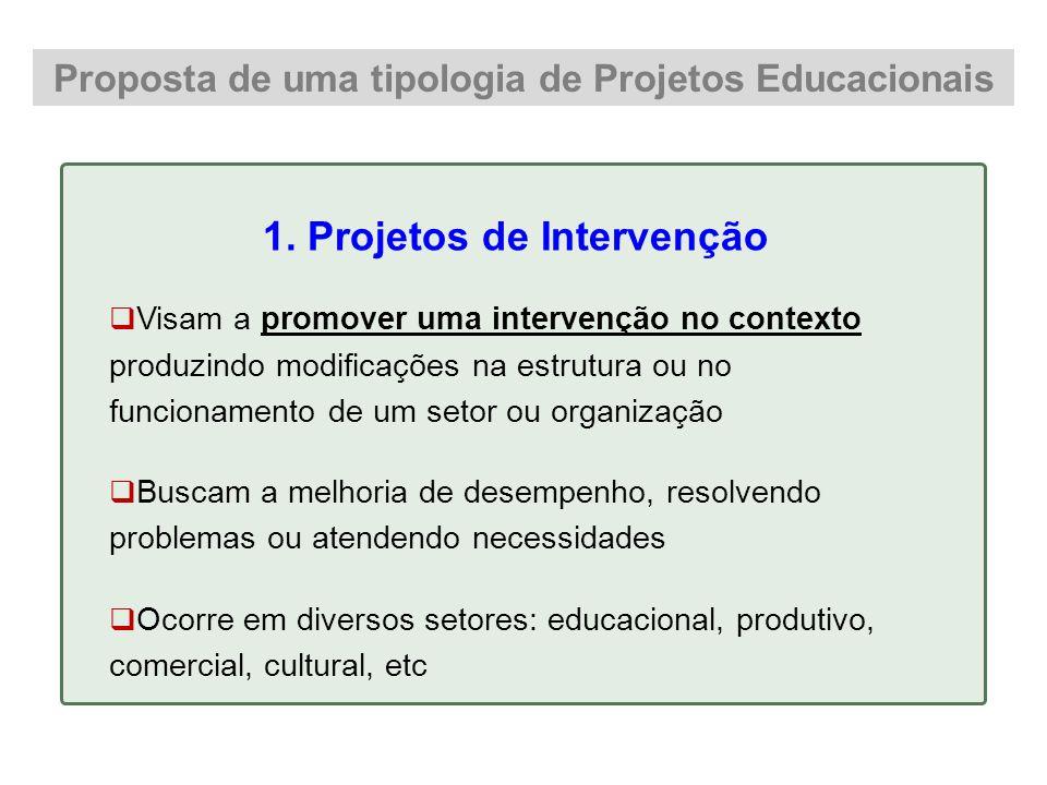 1. Projetos de Intervenção