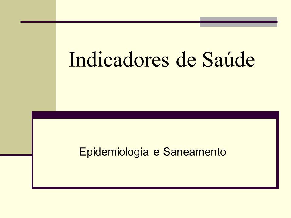 Epidemiologia e Saneamento