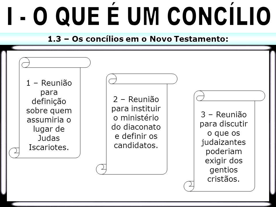 1.3 – Os concílios em o Novo Testamento: