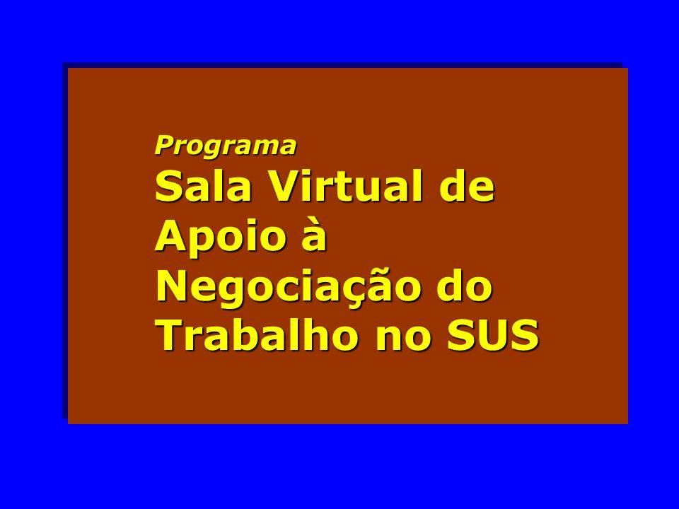 Programa Sala Virtual de Apoio à Negociação do Trabalho no SUS