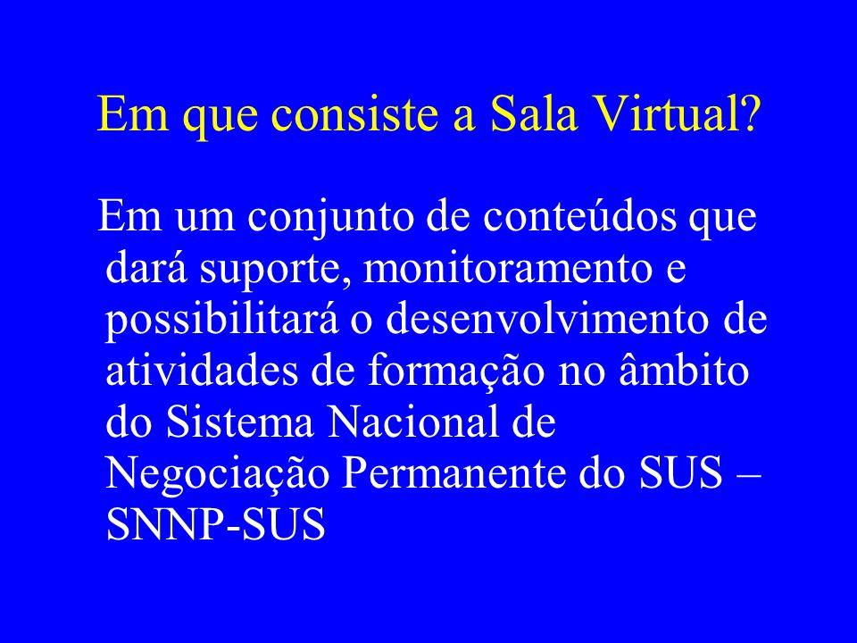 Em que consiste a Sala Virtual