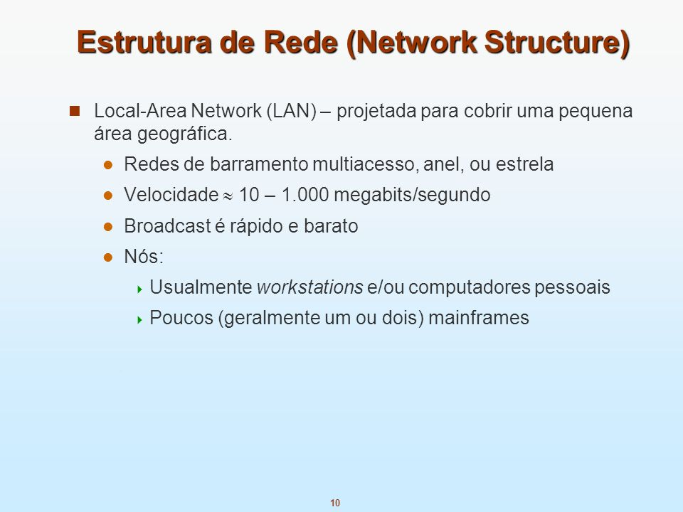 Estrutura de Rede (Network Structure)