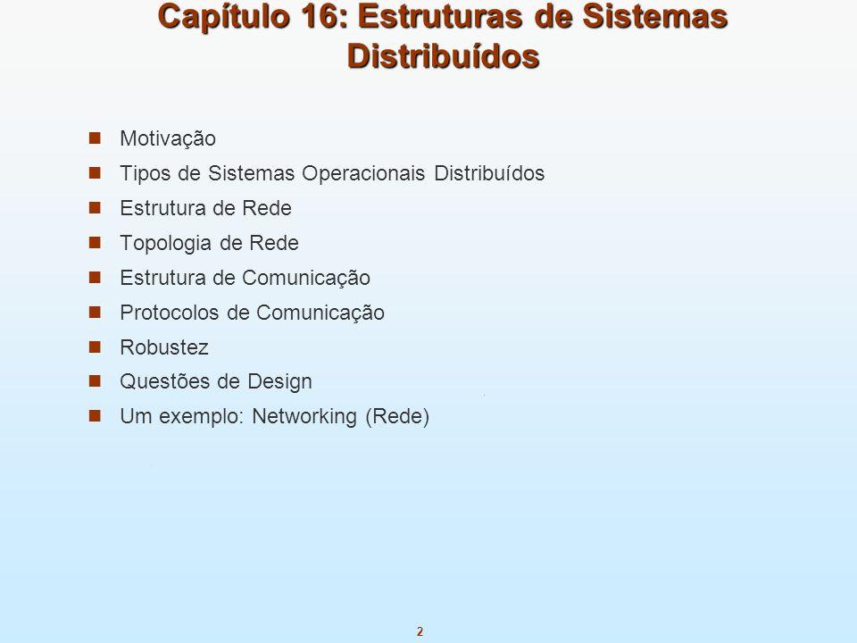 Capítulo 16: Estruturas de Sistemas Distribuídos