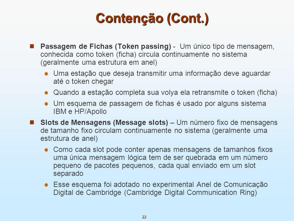 Contenção (Cont.)