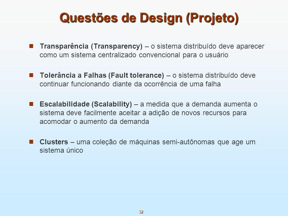 Questões de Design (Projeto)