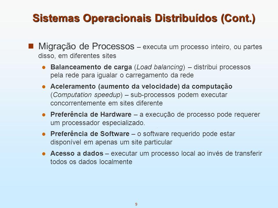 Sistemas Operacionais Distribuídos (Cont.)