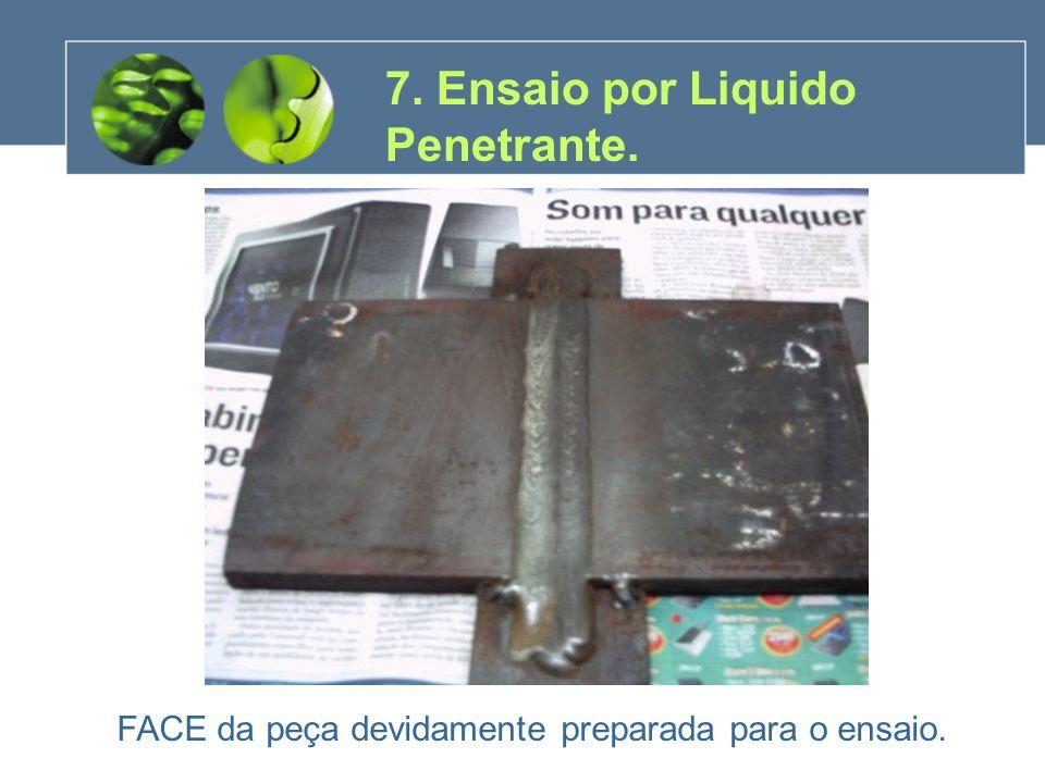 7. Ensaio por Liquido Penetrante.