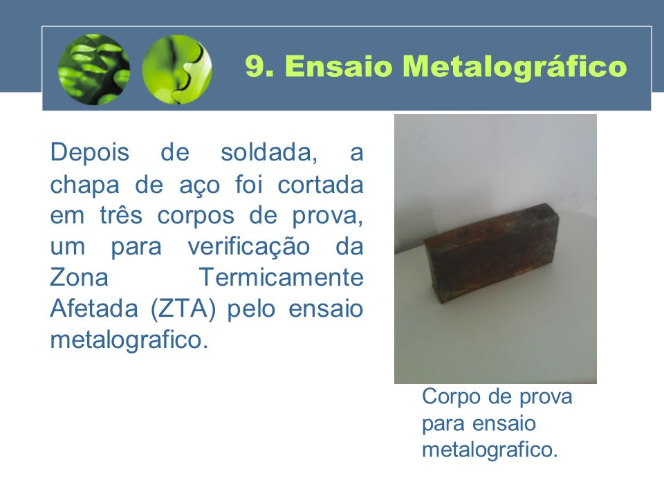 9. Ensaio Metalográfico