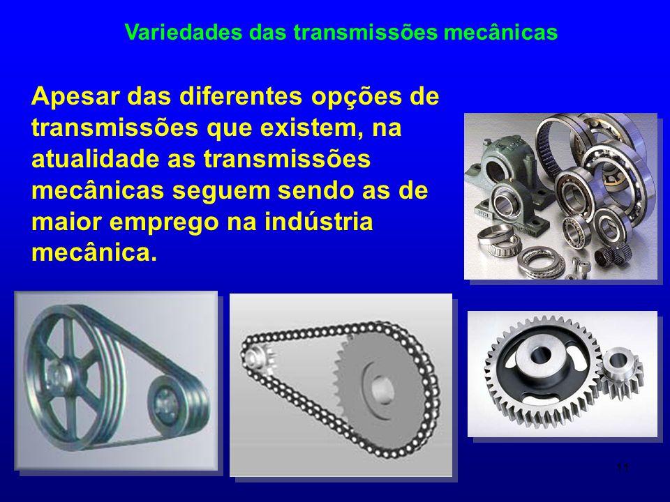 Variedades das transmissões mecânicas