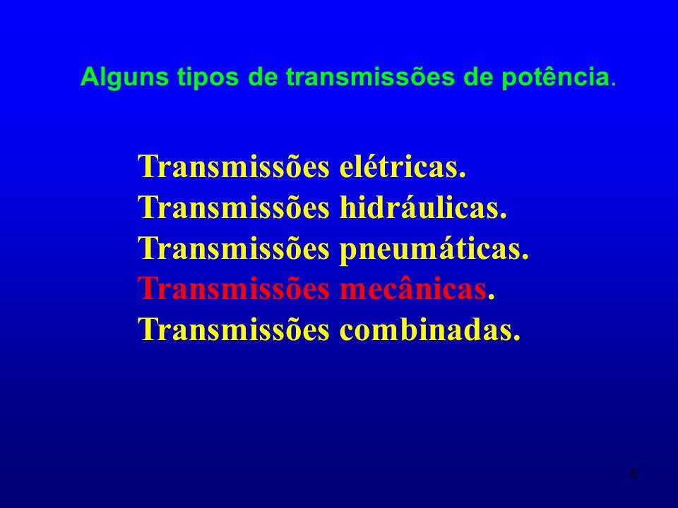 Transmissões elétricas. Transmissões hidráulicas.