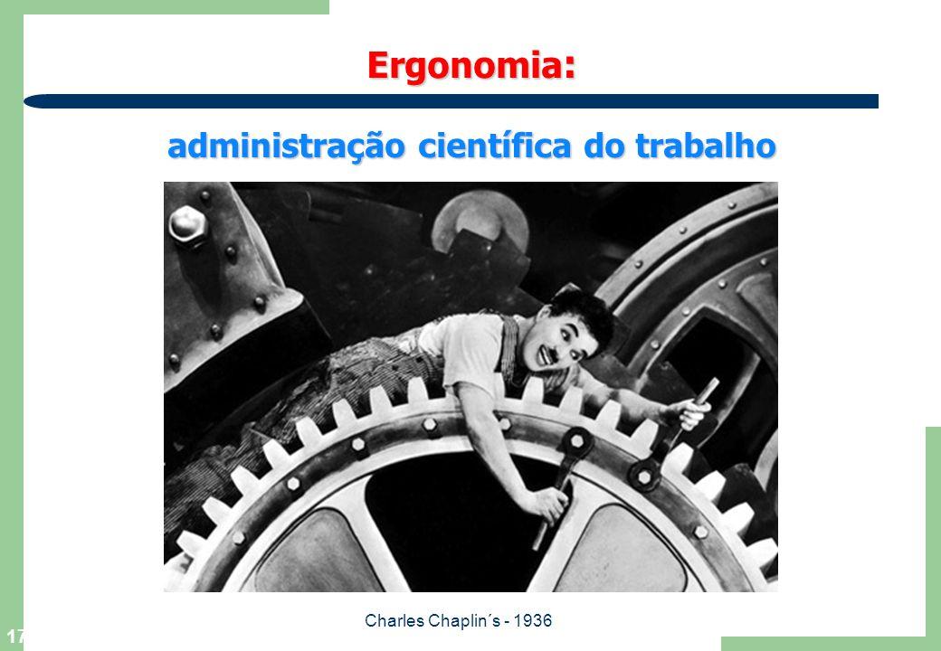 Ergonomia: administração científica do trabalho