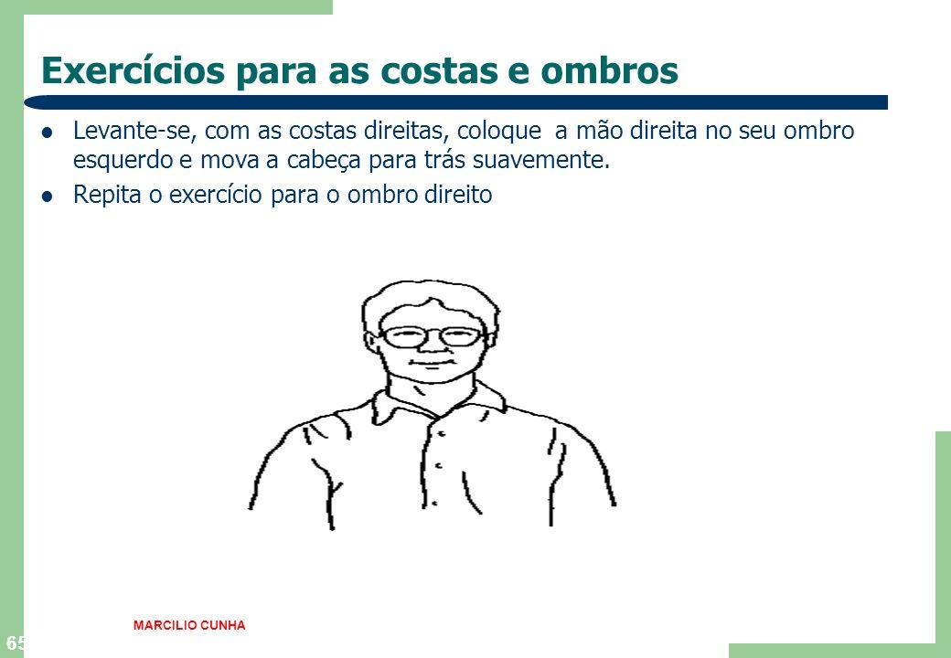 Exercícios para as costas e ombros