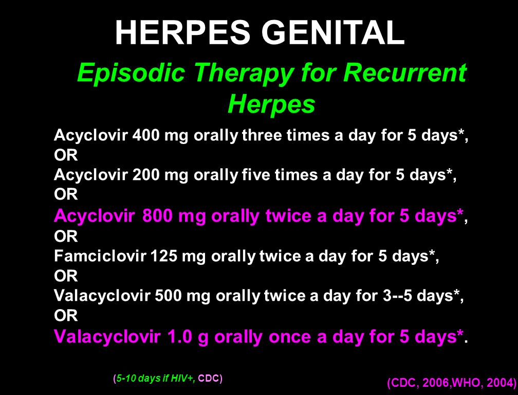 Episodic Therapy for Recurrent Herpes